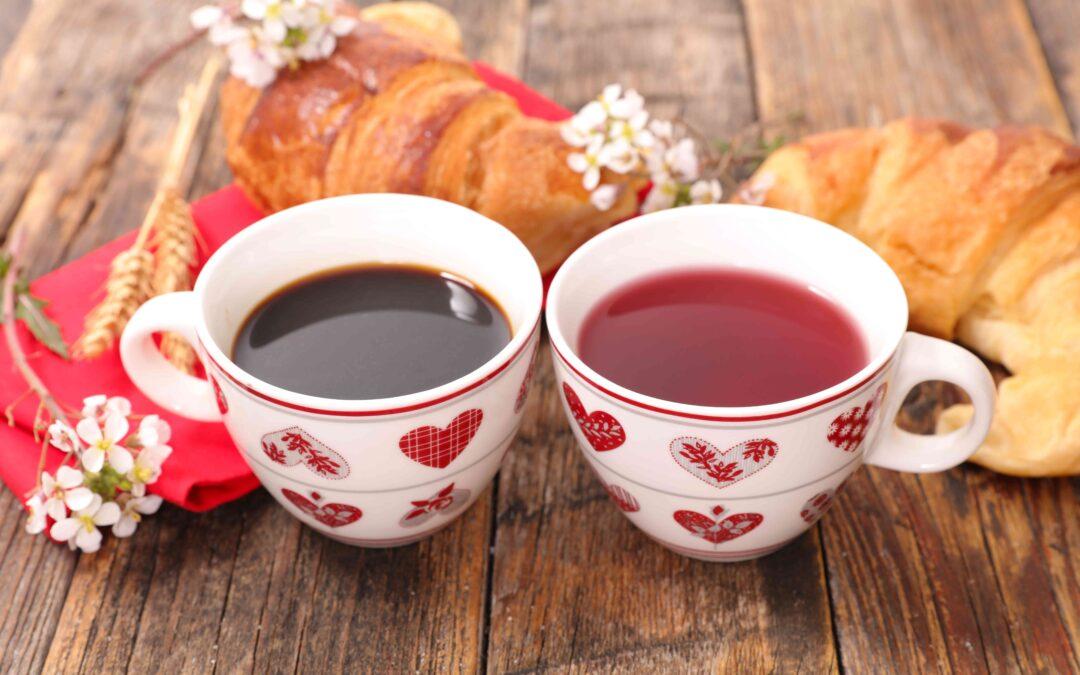 thé ou café au petit déjeuner